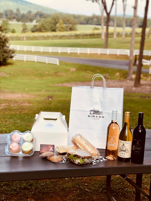 Local Food at a Virginia Winery Harvest Party